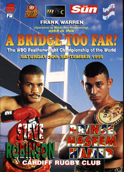 HAMED, PRINCE NASEEM--STEVE ROBINSON OFFICIAL PROGRAM (1995)