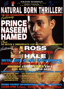 HAMED, PRINCE NASEEM-ENRIQUE ANGELES OFFICIAL PROGRAM (1995)