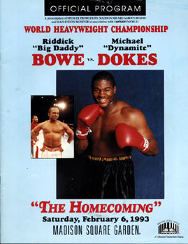 BOWE, RIDDICK-MICHAEL DOKES OFFICIAL PROGRAM (1993)
