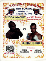 MCGIRT, BUDDY-GEORGE HECKLEY OFFICIAL PROGRAM (1996)
