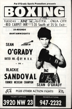 O'GRADY, SEAN-RICHIE SANDOVAL OFFICIAL PROGRAM (1976)