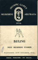 1956 OLYMPIC BOXING PROGRAM (November 28, 1956)