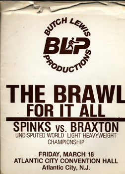 SPINKS, MICHAEL-DWIGHT BRAXTON PRESS KIT (1983)