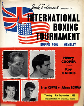 COOPER, HENRY-ROY HARRIS OFFICIAL PROGRAM (1960)