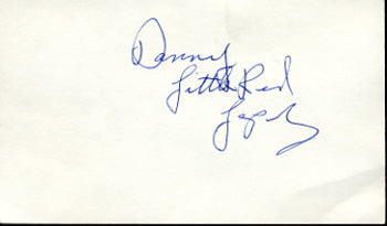 "LOPEZ, DANNY ""LITTLE RED"" SIGNED INDEX CARD"