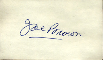 BROWN, JOE SIGNED INDEX CARD