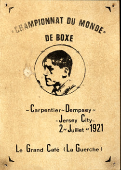 DEMPSEY, JACK-GEORGES CARPENTIER BROADSIDE (1921)