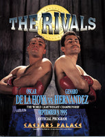 DE LA HOYA, OSCAR-GENARO HERNANDEZ OFFICIAL PROGRAM (1995)