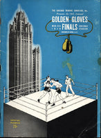 1946 CHICAGO GOLDEN GLOVES FINALS OFFICIAL PROGRAM (CHUCK DAVEY)
