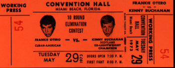 BUCHANAN, KEN-FRANKIE OTERO FULL WORKING PRESS TICKET
