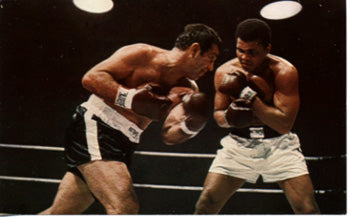 ALI, MUHAMMAD-ROCKY MARCIANO PHOTO POSTCARD (1970)