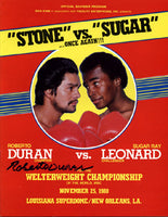 LEONARD, SUGAR RAY-ROBERTO DURAN II SIGNED OFFICIAL PROGRAM (1980-SIGNED BY DURAN)
