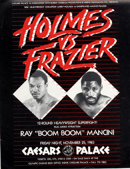 HOLMES, LARRY-MARVIS FRAZIER BROADSIDE (1983)