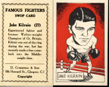KILRAIN, JAKE FAMOUS FIGHTERS SWOP CARD