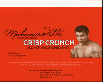ALI, MUHAMMAD CRISP CRUNCH LABEL (1978)