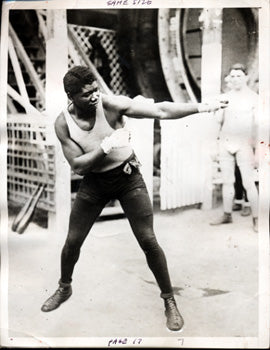 SIKI, BATTLING WIRE PHOTO (CIRCA 1922)