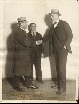 WILLARD, JESS & TEX RICKARD ORIGINAL WIRE PHOTO