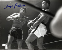 ALI, MUHAMMAD-FLOYD PATTERSON SIGNED WIRE PHOTO (SIGNED BY PATTERSON)