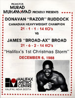 RUDDOCK, RAZOR-JAMES BROAD OFFICIAL PROGRAM (1988)