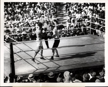 DEMPSEY, JACK-TOMMY GIBBONS WIRE PHOTO (1923)