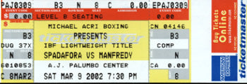 MANFREDDY, ANGEL-PAUL SPADAFORA FULL TICKET (2002)