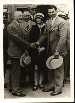 DEMPSEY, JACK & MAYOR OF PHILADELPHIA WIRE PHOTO