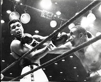 CLAY, CASSIUS-SONNY LISTON I WIRE PHOTO (1964)
