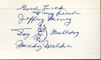 WALKER, MICKEY INK SIGNED INDEX CARD