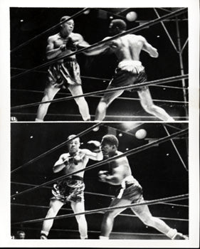 LOUIS, JOE-EZZARD CHARLES WIRE PHOTO (1950)