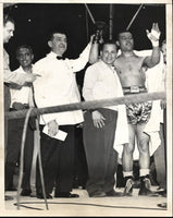 LOUIS, JOE-JERSEY JOE WALCOTT II WIRE PHOTO (1948)
