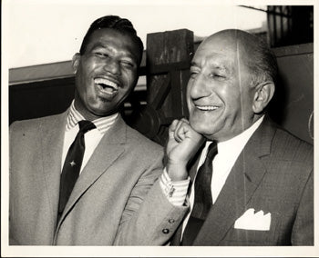 ROBINSON, SUGAR RAY & HARRY LEVINE PROMOTER ORIGINAL ANTIQUE PHOTO (FROM HIS SISTER'S COLLECTION)