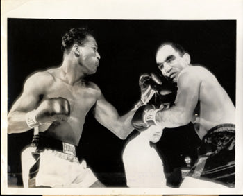ROBINSON,SUGAR RAY-JOE RINDONE ORIGINAL WIRE PHOTO (1955)