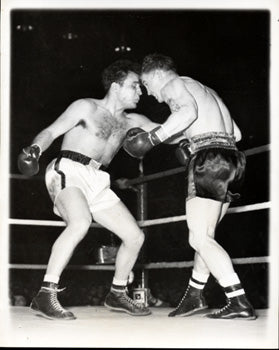 LAMOTTA, JAKE-LAURENT DAUTHUILLE WIRE PHOTO (1949)