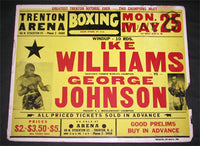 WILLIAMS, IKE-GEORGE JOHNSON ON SITE POSTER (1953)