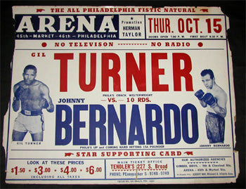 TURNER, GIL-JOHN BERNARDO ON SITE POSTER (1953)