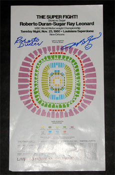 LEONARD, SUGAR RAY-ROBERTO DURAN II SIGNED POSTER (1980-SIGNED BY BOTH)