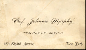 MURPHY, JOHNNY BUSINESS CARD (JAKE KILRAIN'S TRAINER)