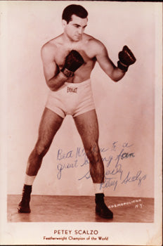 SCALZO, PETE VINTAGE SIGNED PHOTO