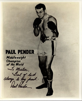 PENDER, PAUL SIGNED PHOTO