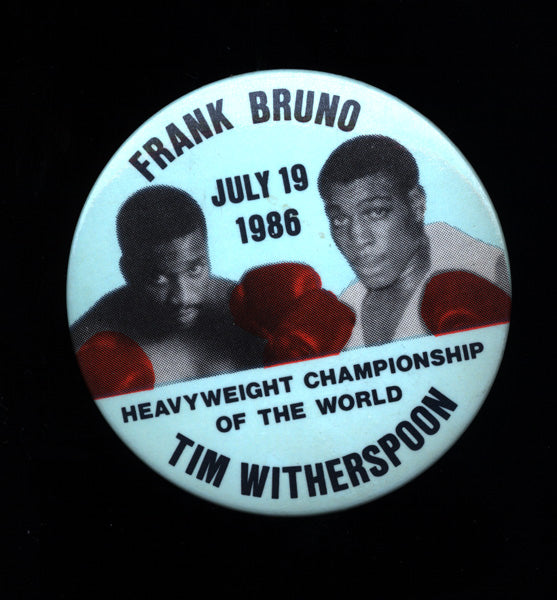 BRUNO, FRANK-TIM WITHERSPOON SOUVENIR PIN (1986)