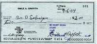 GRIFFITH, EMILE SIGNED CHECK
