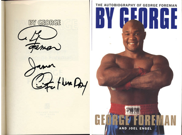 FOREMAN, GEORGE SIGNED AUTOBIOGRAPHY (BY GEORGE)