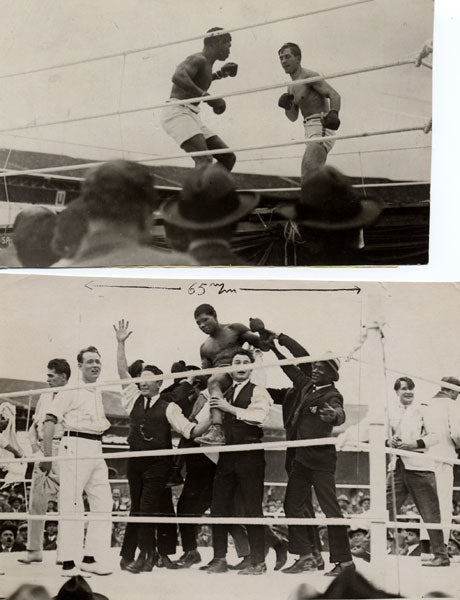 CARPENTIER, GEORGES-BATTLING SIKI ORIGINAL ANTIQUE PHOTOS (1922-2)