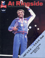 MOORER, MICHAEL SIGNED AMATEUR PROGRAM (1987-SIGNED BY PERNELL WHITAKER)