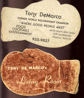DEMARCO, TONY RESTAURANT BUSINESS CARD