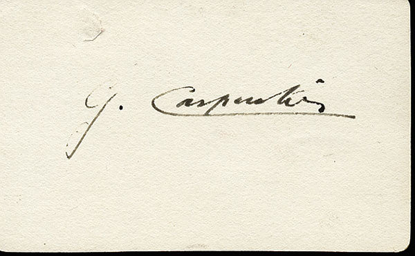 CARPENTIER, GEORGES INK SIGNATURE