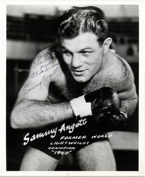 ANGOTT, SAMMY SIGNED PHOTO