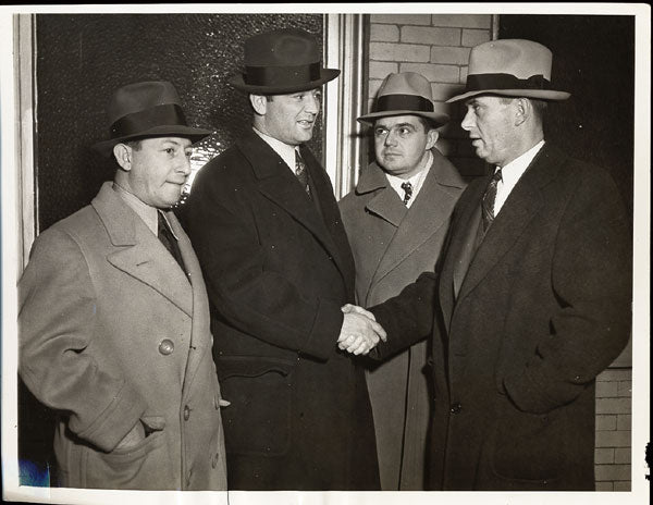 BRADDOCK, JAMES & JOE GOULD WIRE PHOTO (1937)
