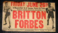BRITTON, JACK-DAVE FORBES ON SITE POSTER (1925)