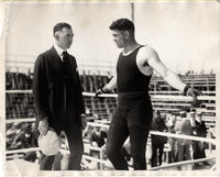 DEMPSEY, JACK & JACK KEARNS WIRE PHOTO (1921-TRAINING FOR CARPENTIER)